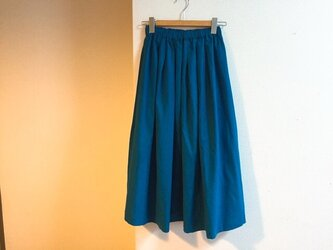 【ゆったりサイズ】cottonリネンのマキシスカートの画像