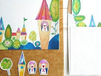 夢の街 文鳥タウン/ミニレターセットの画像