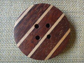 紫檀とメープルの寄木ボタン 47㎜の画像