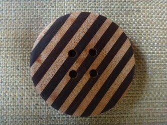 細かい寄木のボタン 47㎜の画像