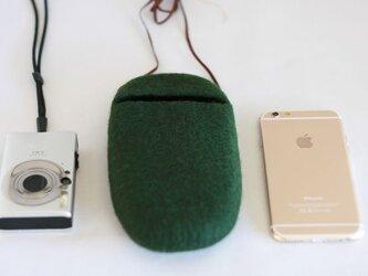 iPhoneポシェット cocoon(森)Lサイズの画像