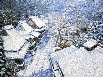 雪の愛宕街道の画像