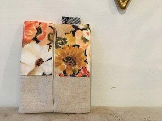 ハルイロ花柄のポケットティッシュ入れ(223)の画像