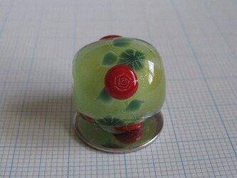 とんぼ玉 バラ(凸)の画像