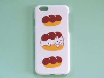 ソフトiPhonePlusケース【猫とパン】の画像