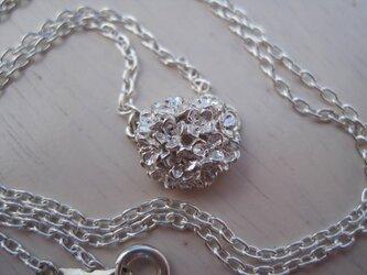 紫陽花ネックレスの画像