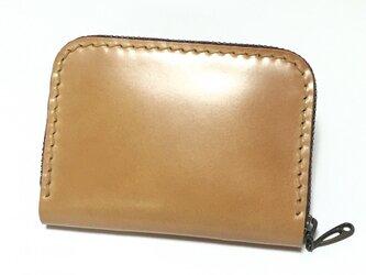 ラウンドファスナー・適当財布(コードバン×ブッテーロ)の画像