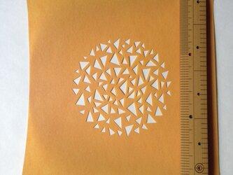 型紙(三角円A)の画像