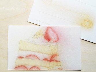 ケーキメッセージカード10枚入りの画像
