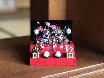 【受注制作】ガラス雛 五人飾り ミニの画像