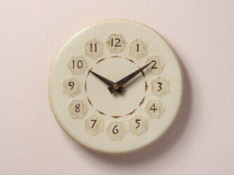 亀甲・丸型φ210(陶製掛時計)の画像