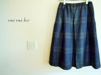 イタリー製ウール ミモレ丈スカートの画像