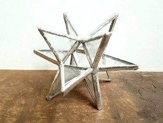 ★3Dキラキラ星mini(透明)★ディスプレイ(ステンドグラス)の画像