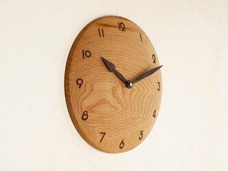 木製 掛け時計 丸 栗材3の画像