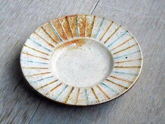 五寸皿 百色(ももいろ)象嵌 麦藁の画像