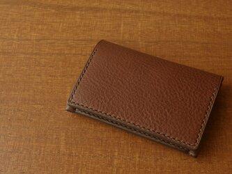 【受注生産】Italian leather Business Card Case/chocoの画像