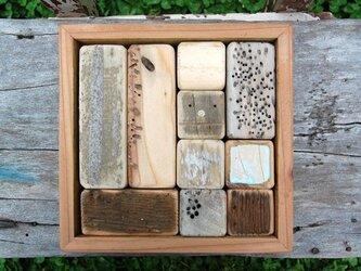 「ロボ頭」入り流木で作った積み木(10ピース)001の画像
