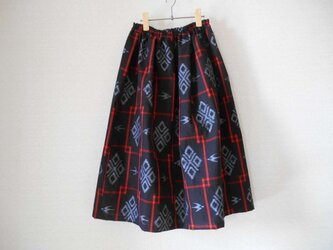再販★新品綿紬の懐かしくて可愛いスカートの画像