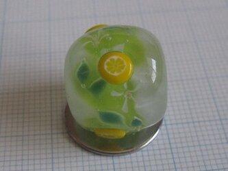 とんぼ玉 レモン(凸)の画像