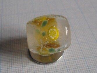 とんぼ玉 レモンの画像