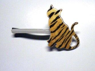 アートヘアピン(ネコ)白  アニマル【送料無料】の画像