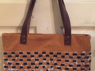倉敷野菜染 倉敷デニムと倉敷帆布の野菜染めオリジナルバッグの画像