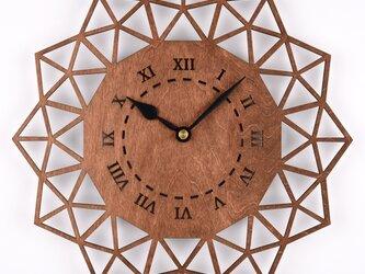木の壁掛け時計B ペンタゴン(木製ウォールクロック)の画像