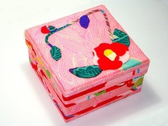 SALE! 飾り箱 ー椿(正方形)ーの画像