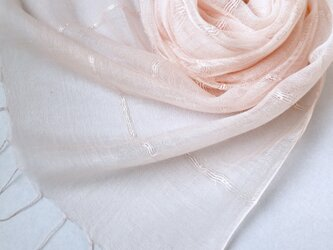 *薄桜色*ふんわり春色 シルクショールの画像