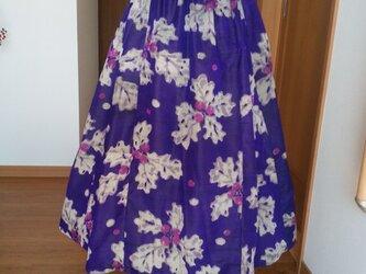 変形フレアースカート -3 ー    一点品の画像