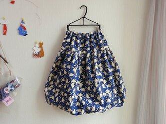新作★コットンフランネル★あらいぐま柄★あらいぐま大人バルーンスカートの画像