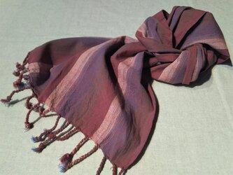 遠州綿紬のストール暁の画像