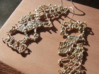 【再販・受注生産】アンティークレースの真鍮ピアス(真鍮、SV925)の画像