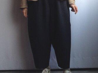 デカパン・ 麻 黒(しわ防止加工)の画像