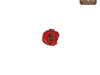 バラのワッペンSS(レッド)の画像