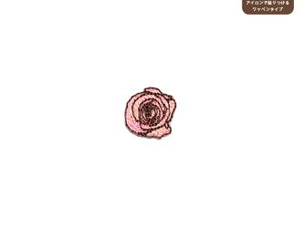 バラのワッペンSS(ピンク)の画像