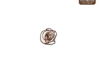 バラのワッペンSS(ホワイト&ピンク)の画像