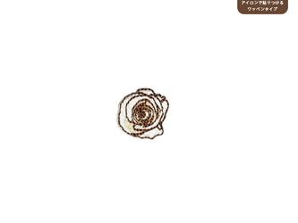 バラのワッペンSS(ホワイト&ベージュ)の画像