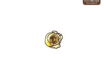 バラのワッペンSS(クリーム)の画像