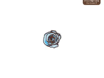バラのワッペンSS(アクア)の画像