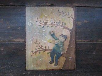 鳥と笛ふきの画像