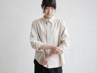 エシカルヘンプマニッシュシャツ ギャザータイプの画像