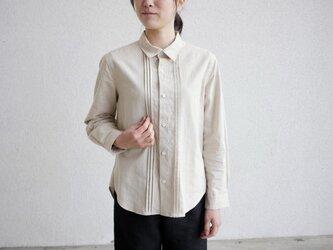 エシカルヘンプマニッシュシャツ ピンタックタイプの画像