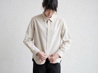 エシカルヘンプマニッシュシャツ プレーンタイプの画像