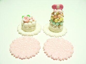 ミニチュア ウェディングケーキのみの画像