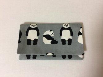 懐紙、通帳いれ Panda grayの画像