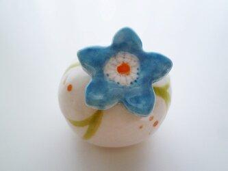 青いお花のカード立て-004の画像