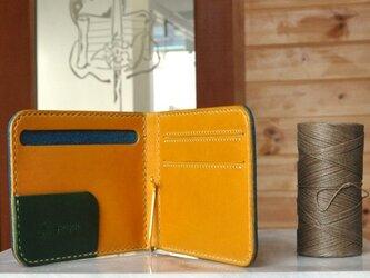 マネークリップの折財布A No.1 イタリアンレザーの画像
