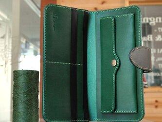シンプルな長財布B No.1 ブッテーロの画像