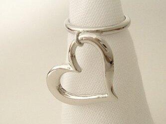 big heart フリーサイズ指輪の画像